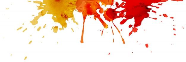 Abstrakter aquarellhintergrund mit handgemaltem spritzer.