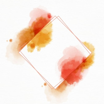Abstrakter aquarellrahmen mit flecken
