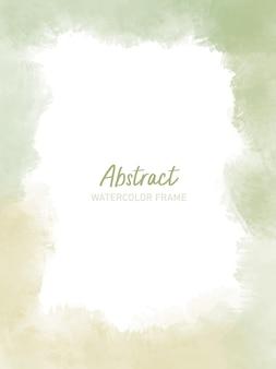 Abstrakter aquarellrahmen