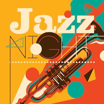 Abstrakter art jazz-hintergrund in der farbe