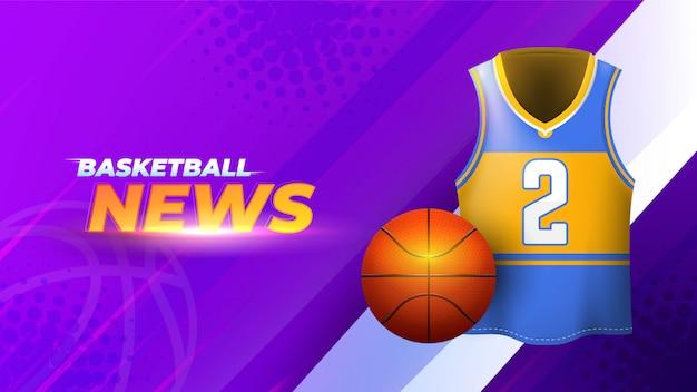 Abstrakter attraktiver basketballnachrichtenhintergrund
