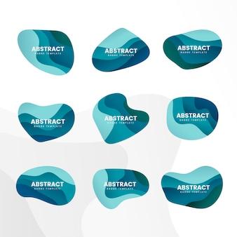 Abstrakter ausweisdesign-vektorsatz