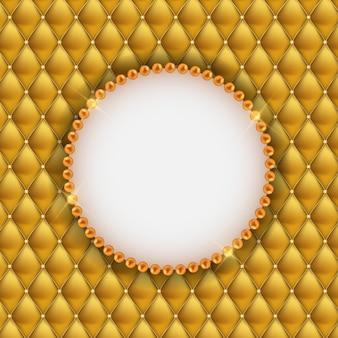 Abstrakter beautuful hintergrund mit perlen-feld.