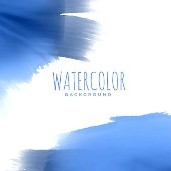 Abstrakter blauer aquarellbeschaffenheitshintergrund
