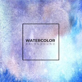 Abstrakter blauer aquarellhintergrund. es ist eine hand gezeichnet.