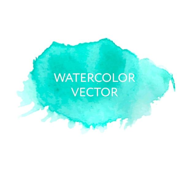 Abstrakter blauer aquarellspritzer. aquarell tropfen