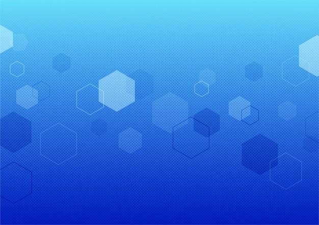 Abstrakter blauer bokeh beleuchtet effekthintergrund.