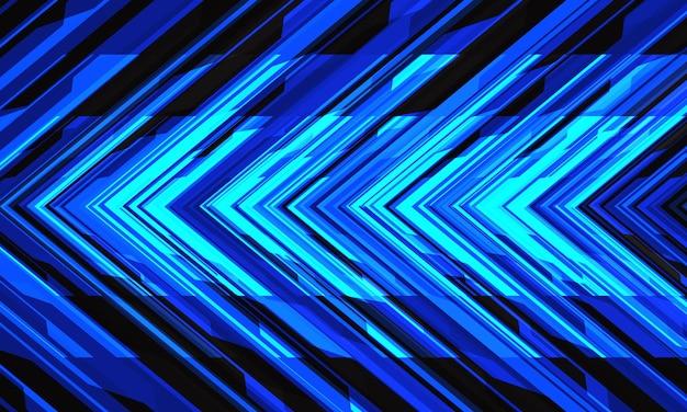 Abstrakter blauer cyberpfeilrichtung geometrisches design moderner technologie futuristischer hintergrundvektor