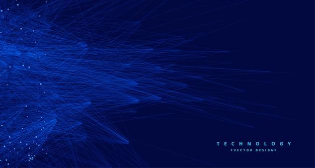Abstrakter blauer daten-ai-hintergrund der tachnologie großer