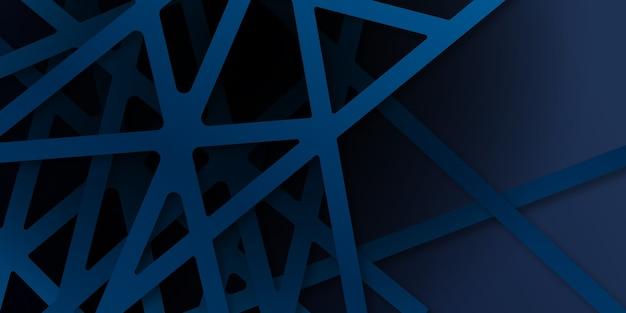 Abstrakter blauer diagonaler überlappungshintergrund. heller dunkelblauer dynamischer abstrakter hintergrund mit diagonalen linien. moderner hintergrund des unternehmenskonzepts