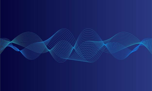 Abstrakter blauer digitaler entzerrer, vektor der schallwelle