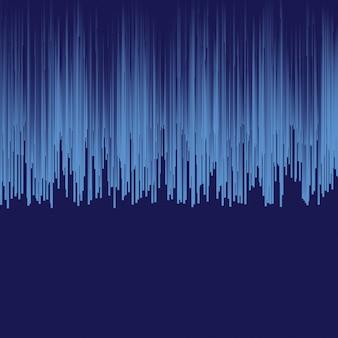 Abstrakter blauer dynamischer vektorhintergrund