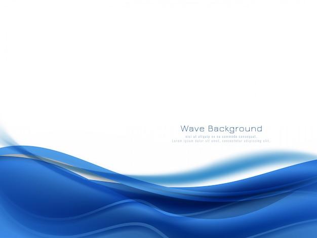 Abstrakter blauer farbwellenhintergrund