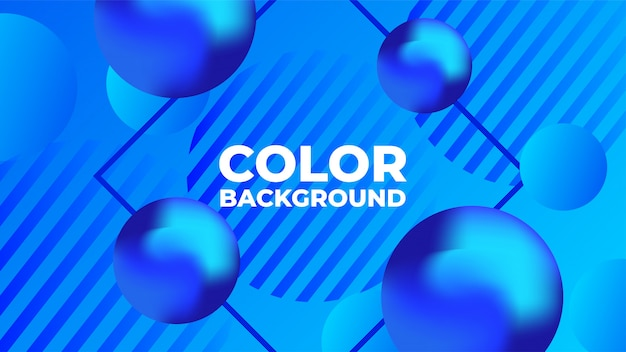 Abstrakter blauer flüssiger kugelhintergrund