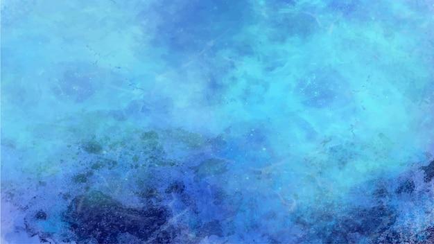 Abstrakter blauer galaxienmalereihintergrund