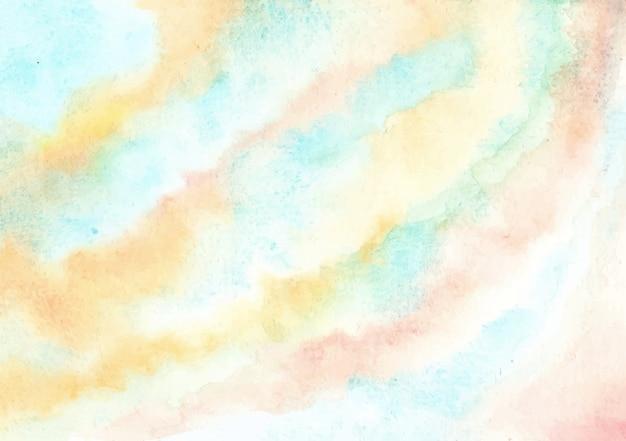 Abstrakter blauer gelber aquarellbeschaffenheitshintergrund