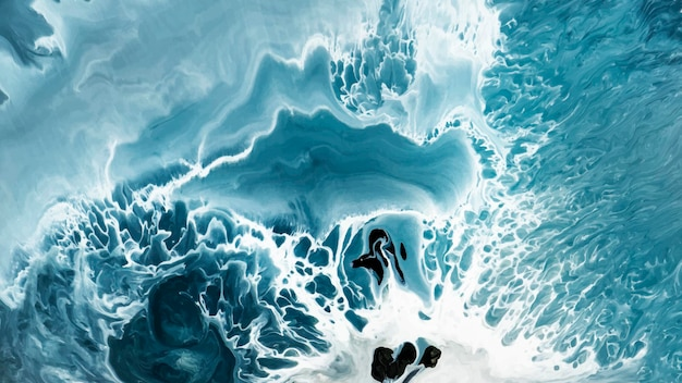 Abstrakter blauer grunge-aquarell gemusterter hintergrund