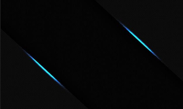 Abstrakter blauer heller dunkler leerer raum auf dem modernen luxus-futuristischen technologiehintergrund des sechsecknetzdesigns