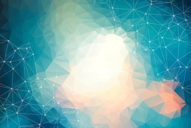 Abstrakter blauer heller geometrischer polygonaler hintergrund