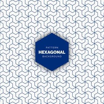 Abstrakter blauer hexagonaler nahtloser geometrischer musterhintergrund