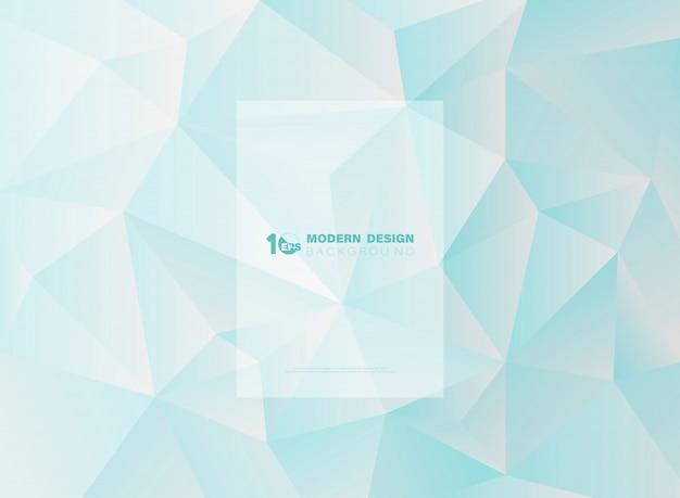 Abstrakter blauer himmel des polygonalen hintergrundes des dreiecks.