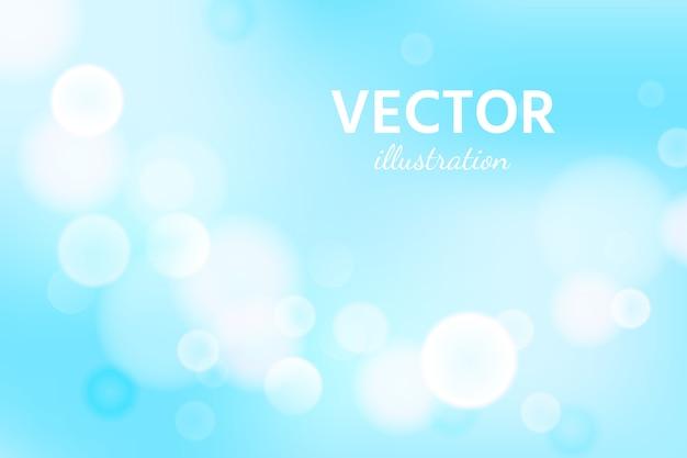 Abstrakter blauer himmelhintergrund mit unschärfe-bokeh-lichteffekt.