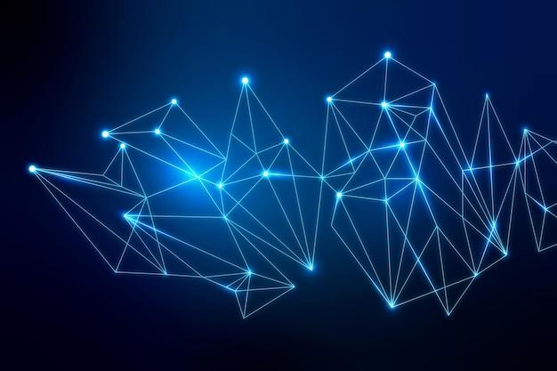 Abstrakter blauer hintergrund des digitalen netzwerks