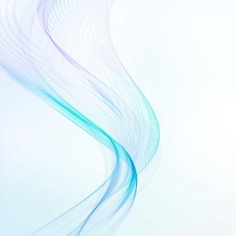 Abstrakter blauer hintergrund, futuristische gewellte illustration, kunstkonzept