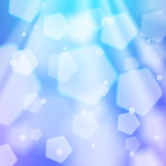 Abstrakter blauer hintergrund. lichtstrahlen, bokeh, glänzende und funkelnde kulisse. grafikdesignelement für websites, broschüren, flyer. winter, schneekonzept. vektor-illustration.