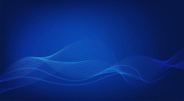 Abstrakter blauer hintergrund. linien winken modern.