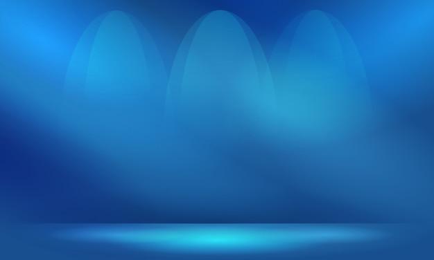 Abstrakter blauer hintergrund mit beleuchtung und exemplarplatz