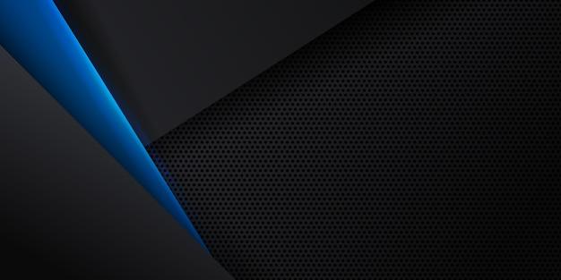 Abstrakter blauer hintergrund mit dynamischem effekt