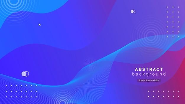 Abstrakter blauer hintergrund mit farbverlaufsformen