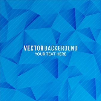 Abstrakter blauer hintergrund mit geometrischer art