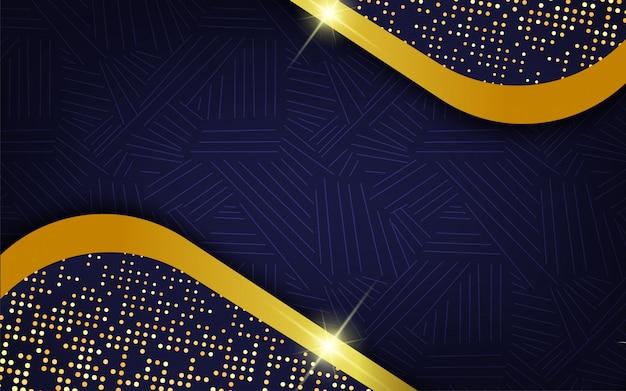 Abstrakter blauer hintergrund mit goldfunkeln