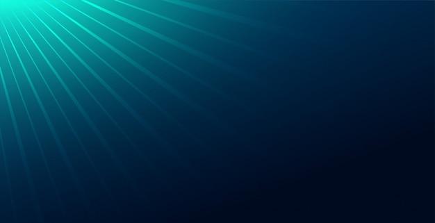 Abstrakter blauer hintergrund mit lichtstrahlenabfall