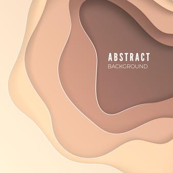 Abstrakter blauer hintergrund mit papierschnittformen. layout für business- und elementposter. bunte schnitzkunst. papierrahmenhintergrund. illustration