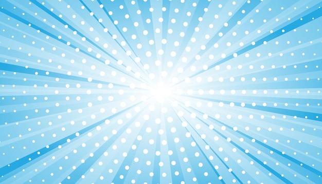 Abstrakter blauer hintergrund mit sonnenstrahl. sommervektorillustration für design