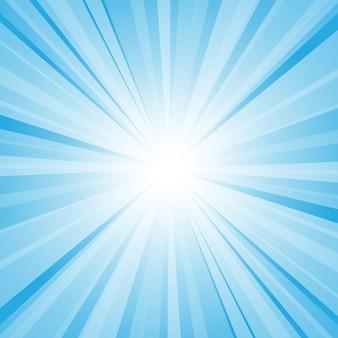 Abstrakter blauer hintergrund mit sonnenstrahl.