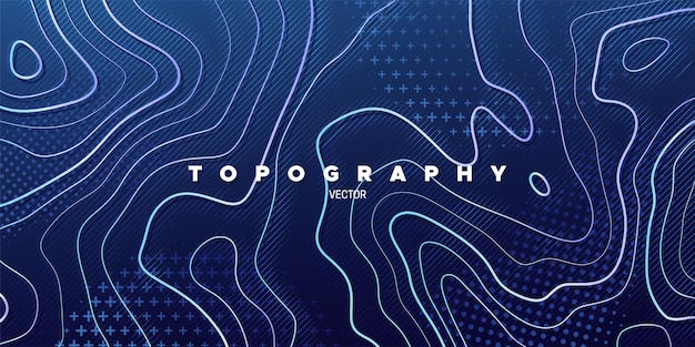 Abstrakter blauer hintergrund mit topographie-relief