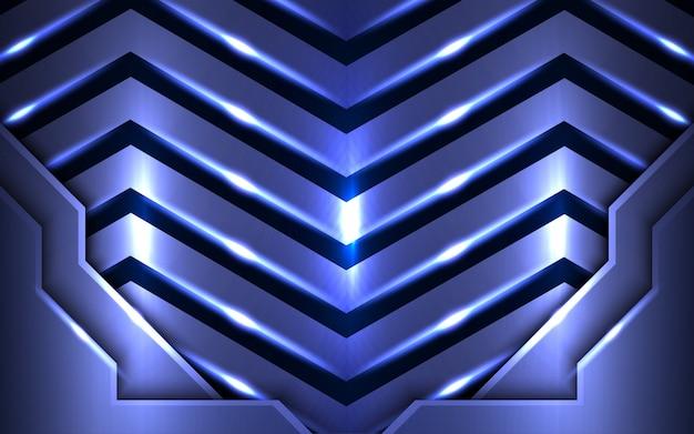 Abstrakter blauer hintergrundmähdrescher mit lichteffekt.