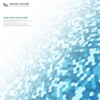 Abstrakter blauer kleiner hexagonmuster-technologiehintergrund