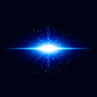 Abstrakter blauer lichteffektvektorhintergrund