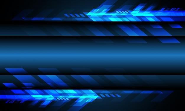 Abstrakter blauer lichtpfeiltechnologie-leerraum futuristischer technologiehintergrund.