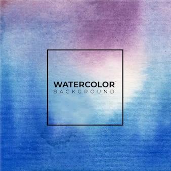 Abstrakter blauer lila aquarellhintergrund.