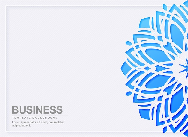 Abstrakter blauer mandala-designhintergrund