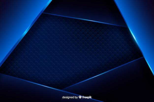 Abstrakter blauer metallischer hintergrund mit reflexion