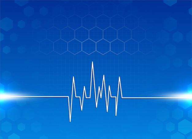 Abstrakter blauer moderner hintergrund der medizin