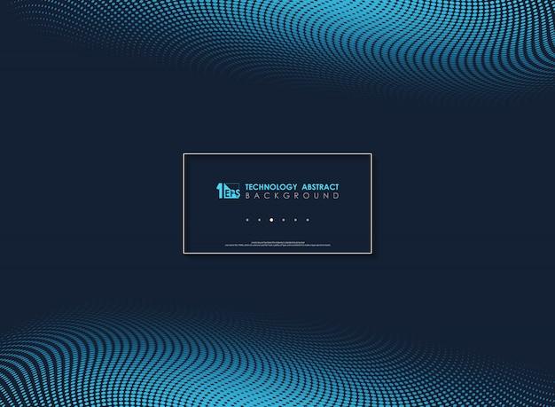 Abstrakter blauer moderner minimaler geometrischer hintergrund der punkte