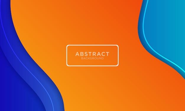 Abstrakter blauer orange hintergrund mit minimalem